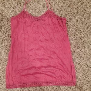 Vanity Pink Lace Tank Top